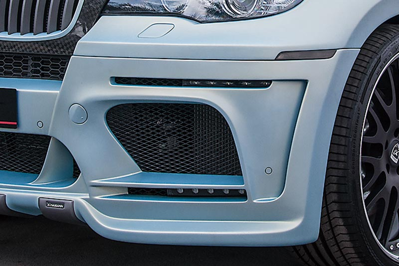 complex-shaped bumpers and grilles
