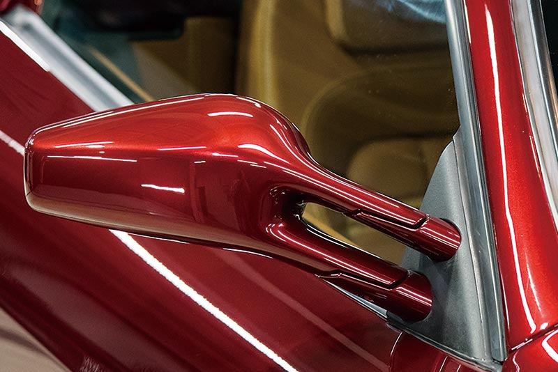 excessively-curved parts like side mirrors