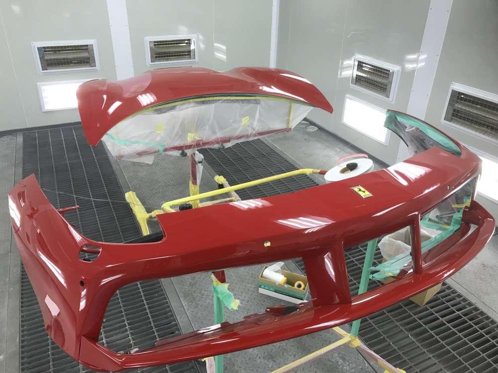 フェラーリ488 ボディ施工