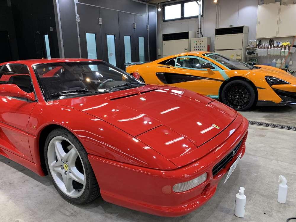 Ferrari F355 Fenix Scratch Guard ペイントプロテクションフィルム施工