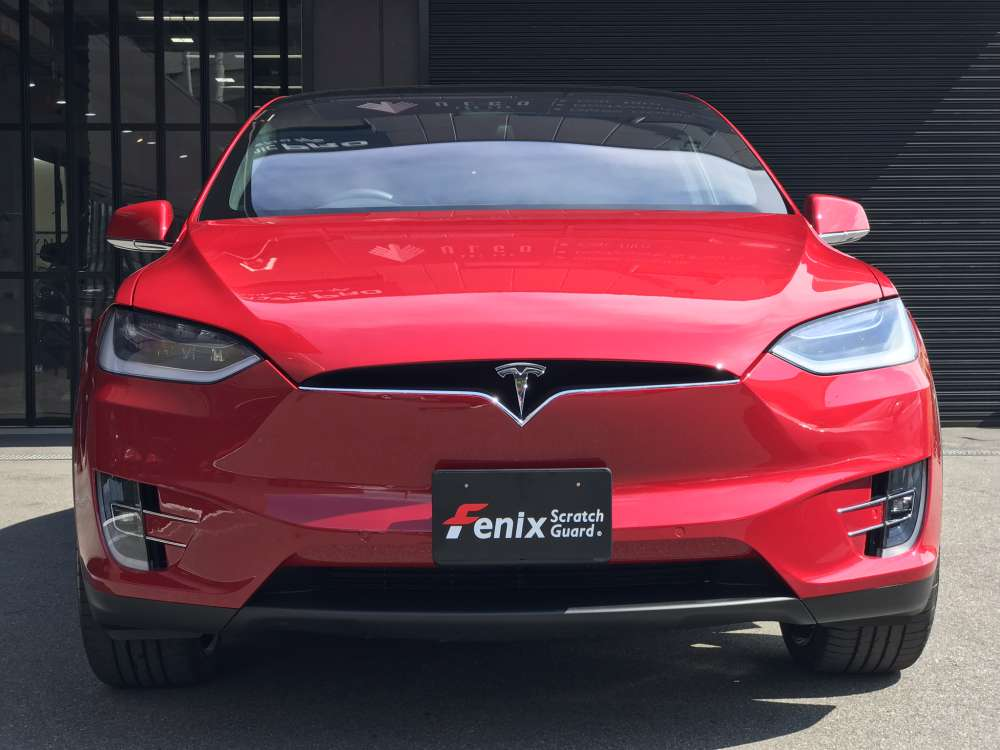 Tesla model XテスラモデルX Fenixペイントプロテクションフィルム施工事例