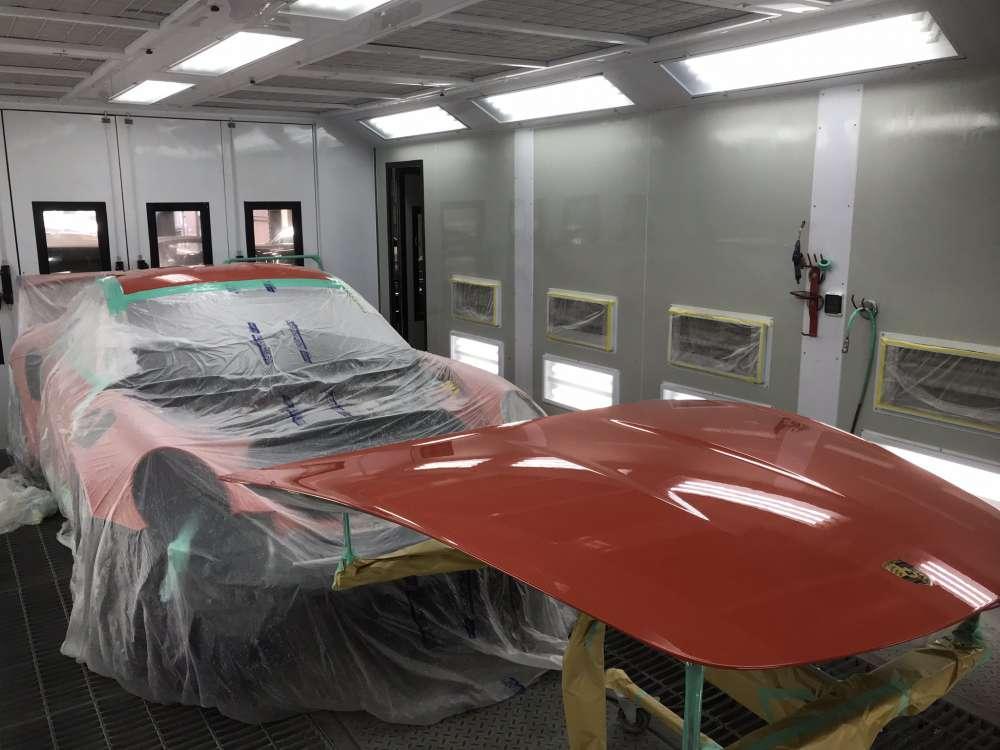 fenixクリアペイントプロテクション塗装風景です。