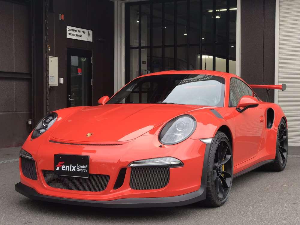 Porsche GT3RS Fenix scratch guardクリアペイントプロテクションフィルム施工事例