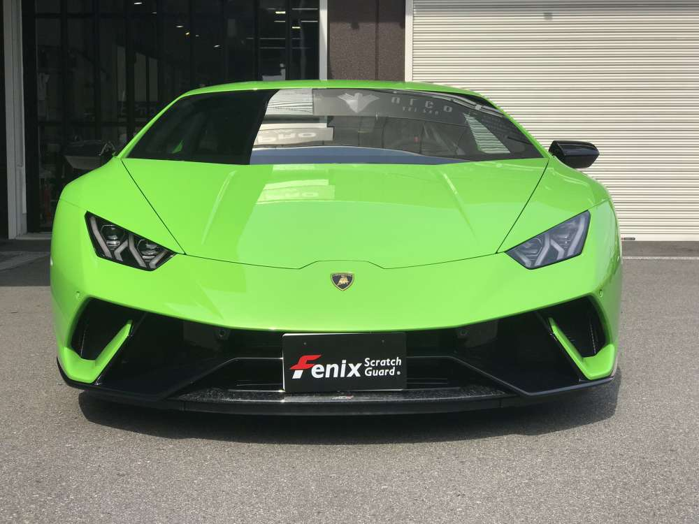 Lamborghini Huracan Performantel Fenixクリアペイントプロテクションフィルム施工事例